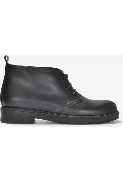 Vizon Ayakkabı Kadın Siyah Cilt Bot VZN20-041K
