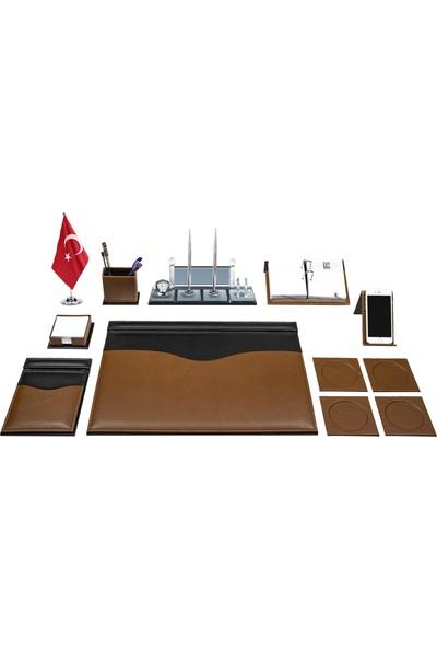 Anadolu Fırat Kahve Siyah Sümen Takımı ve Masa Isimliği