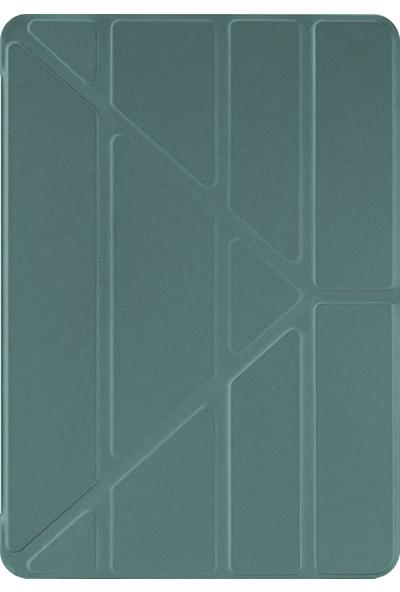 Microsonic Apple iPad 10.2'' 8. Nesil Kılıf (A2270-A2428-A2429-A2430) Origami Pencil Koyu Yeşil