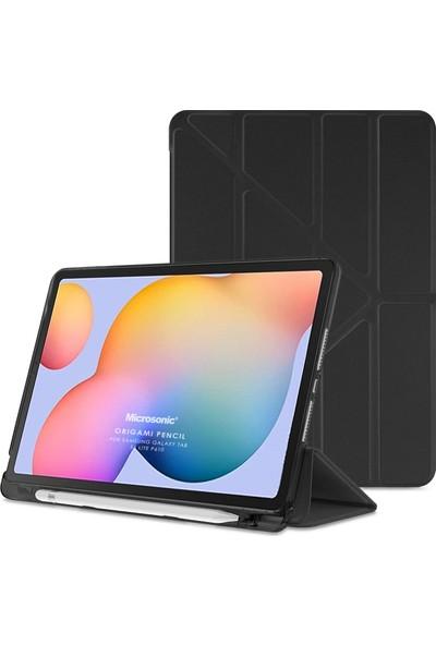 "Microsonic Samsung Galaxy Tab S6 Lite 10.4"" P610 Kılıf Origami Pencil Siyah"