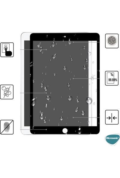 Microsonic Apple iPad 10.2'' 8. Nesil (A2270-A2428-A2429-A2430) Tam Kaplayan Temperli Cam Ekran Koruyucu Siyah