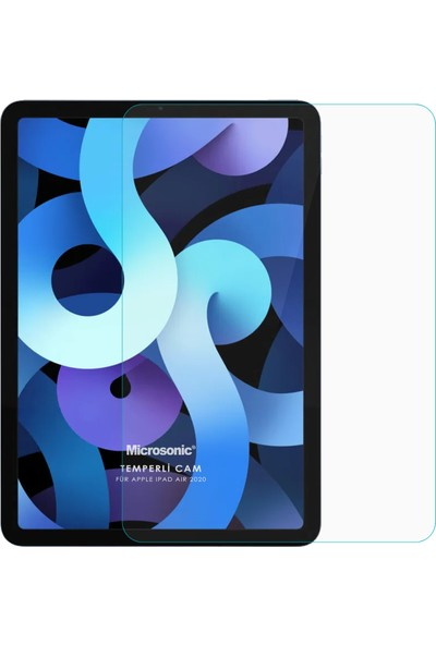 Microsonic Apple iPad Air 4 (2020) Tempered Glass Cam Ekran Koruyucu
