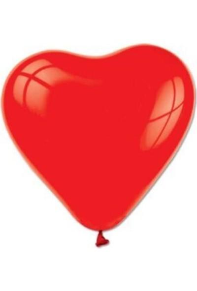 Balon Evi Kalp Balon Kırmızı 20 Adet