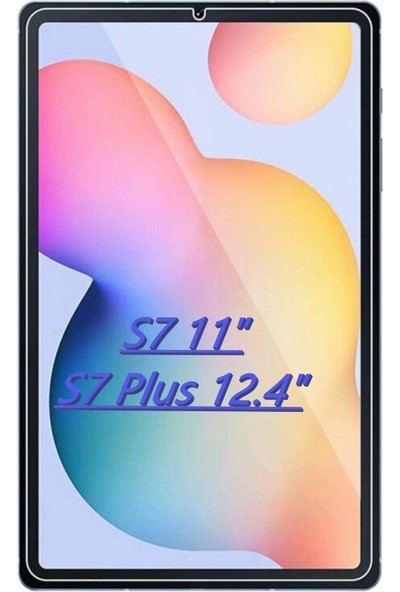 "FUJİMAX Samsung Galaxy Tab S7 Plus (12.4"") T976 9h Temperli Ekran Koruyucu Şeffaf"
