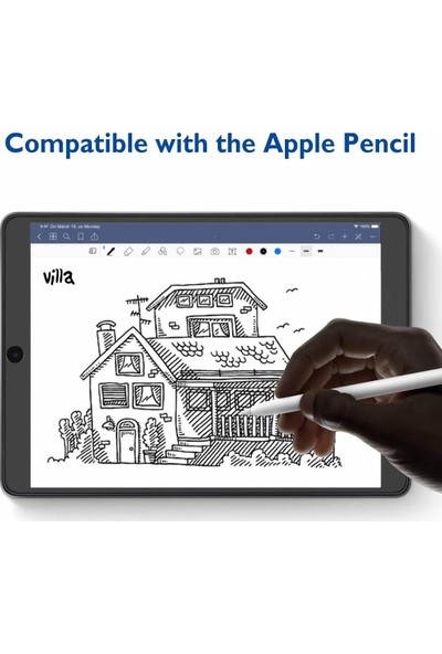 FUJİMAX Apple iPad Mini 5. Nesil A2125 A2133 Seri Mat Parmak Iz Bırakmayan 9h Temperli Ekran Koruyucu Şeffaf