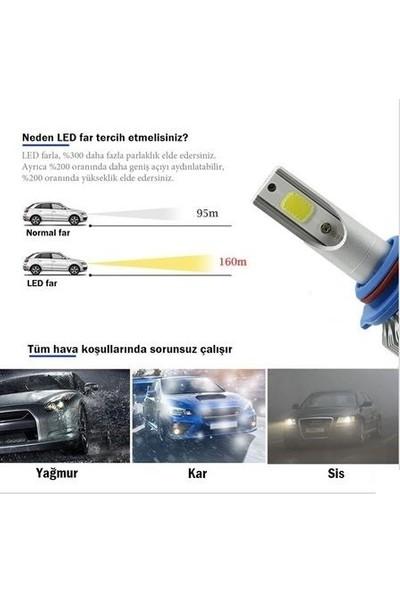 Boğaziçi H1 LED Xenon Şimşek Etkili Zenon Far Ampulü Beyaz 6000K 4400L