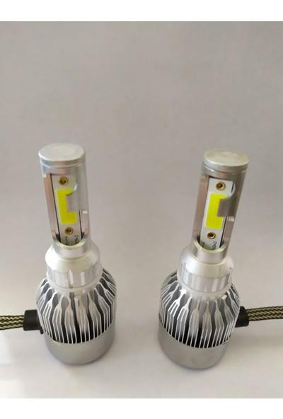 Boğaziçi H4 LED Xenon Şimşek Etkili Zenon Far Ampulü Beyaz 6000K 4400L