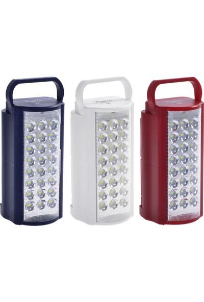 Daylink 2606L USB Şarj Çıkışlı 24 LED 80 Saat Akülü Şarjlı Işıldak