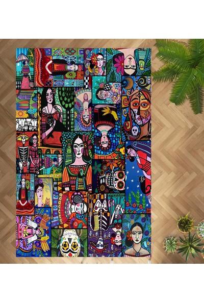 Evpanya Frida Heryöne Bakan Desenli Makinada Yıkanabilir Halı