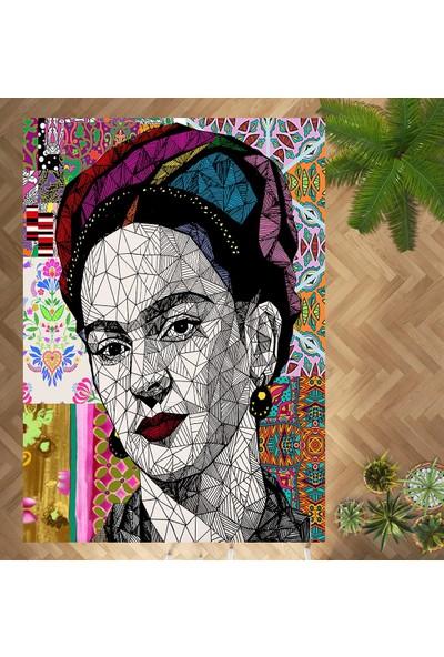 Evpanya Frida Tablo Desenli Makinada Yıkanabilir Halı