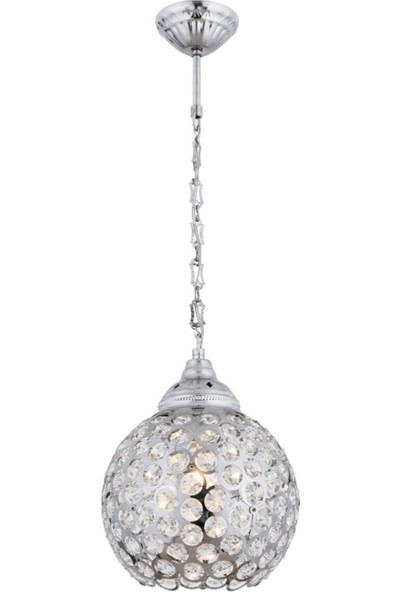 Avonnı AV-4141-1KB Krom Kaplama Sarkıt E27 Metal Kristal 22 cm
