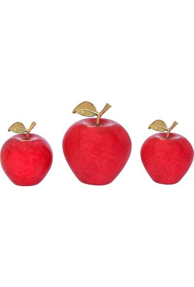 Arı Onyx Doğal Taş Elma Takımı 3' Lü Biblo 1031