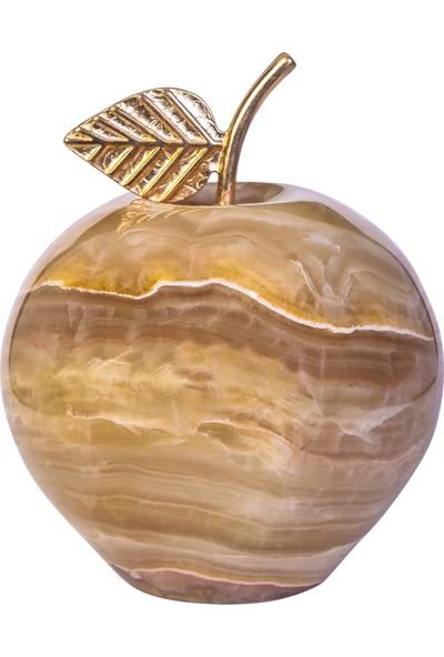 Arı Onyx Onyx Taşı Elma 8 cm 'kahve Doğal'