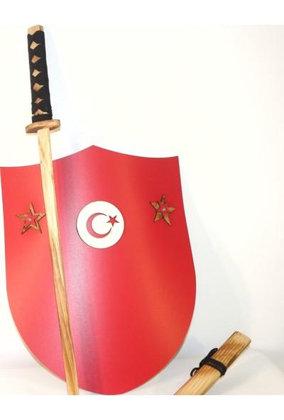 Tozkoparan Ahşap Kılıç ve Kalkan Seti