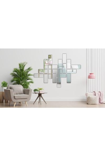 DGN Reklam Dekoratif Pleksi Dikdörtgen Aynalar 18 Adet