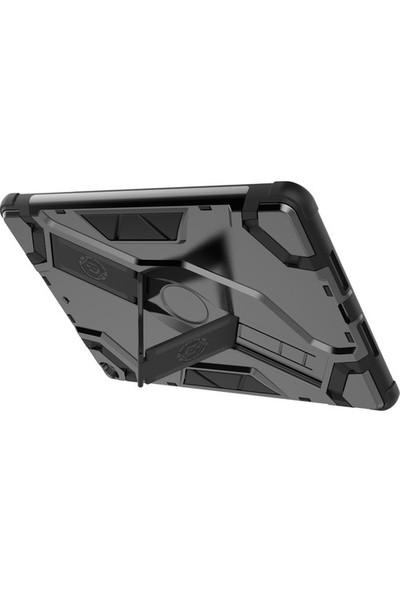 "Samsung Galaxy Tab A7 SM-T500 2020 10.4"" Kılıf + Kalem + Ekran Koruyucu Defens Armor Serisi 360 Derece Tam Koruma Zırh Standlı"