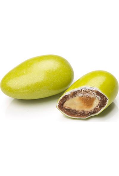 Melodi Çikolata Yeşil Renkli Badem Şekeri 1 kg