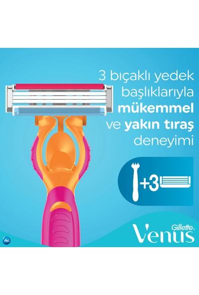 Gillette Simply Venus 3 Tıraş Makinesi + 3 Yedek Tıraş Bıçağı