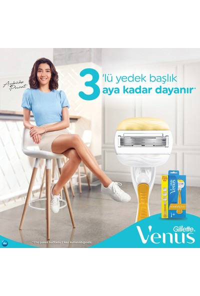 Venus Comfortglide Olay Kadın Tıraş Makinesi + 2 Yedek Tıraş Bıçağı