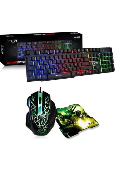 Inca IKG-446 Mekanik Hisli Klavye + Gaming Oyuncu Mouse + Mouse P