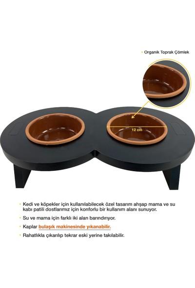 Odun Concept Odunconcept Çömlek Kaseli Kedi Mama ve Su Kabı - Sonsuz