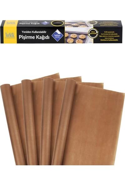 Nostik Yıkanıp Tekrar Kullanılabilir Pişirme Kağıdı 4'lü & Teflon Kaplı Cam Kumaş