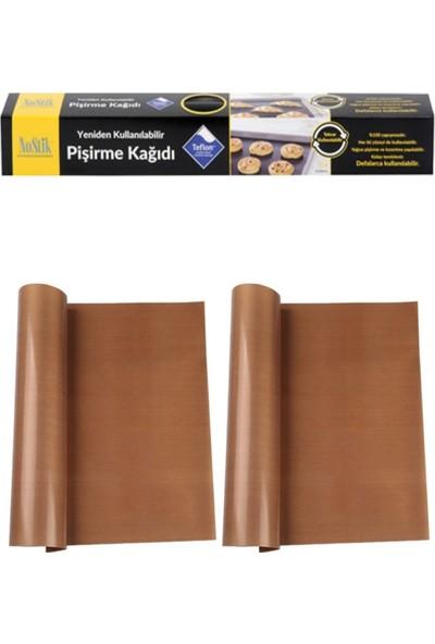 Nostik Yıkanıp Tekrar Kullanılabilir Pişirme Kağıdı 2'li & Teflon Kaplı Cam Kumaş
