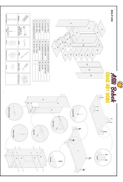 Afilli 3 Kapılı 2 Çekmeceli Dolap Somon