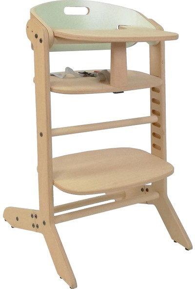 Mamatoyz 19 Mama Ahşap Mama Sandalyesi - Ayarlanabilir Yükseklik