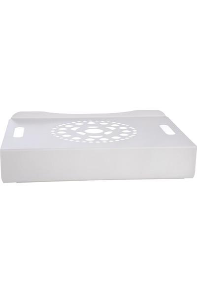 Voll Blume Laptop Soğutucu Notebook Standı - Beyaz