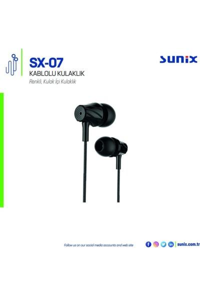 Sunix Sx-07 Kulakiçi Mikrofonlu Kulaklık Siyah