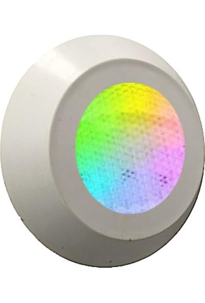 Mega Pool Ayaklı 2 Kablolu Rgb LED ( Osram ) Süs Havuz Aydınlatma Lambası 7 cm Çap