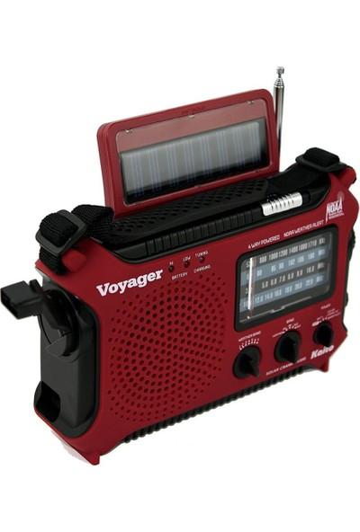 Kaito KA500IP-RED Voyager Solar / Dynamo Am / Fm / Sw Noaa Hava Durumu Radyosu - Kırmızı