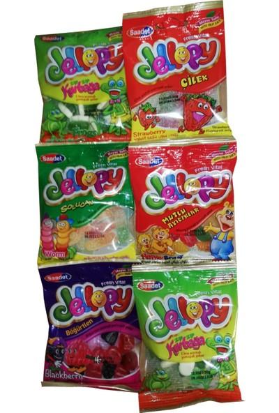 Saadet Jellopy Mix Jelibon Yumuşak Şeker 900 gr 36'lı
