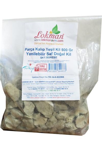LokmanAVM Parça Kalıp Yeşil Kil 500 gr Yenilebilir Saf Doğal Kil Paket