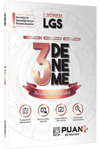 Puan Akademi Yayınları LGS 1. Dönem 3'lü Deneme