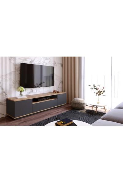 Robin Home Loft Tv Ünitesi Televizyon Sehpası Tv Sehpası Lf7-Aa