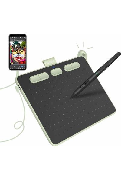 """Parblo Ninos 6 x 4"""" Grafik Çizim Tableti - S Yeşil (Yurt Dışından)"""