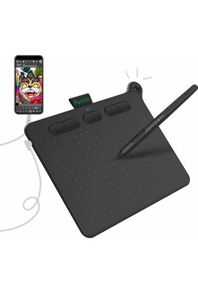 """Parblo Ninos 6 x 4"""" Grafik Çizim Tableti - S Siyah (Yurt Dışından)"""