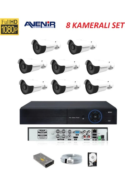 Avenir 8 Li Güvenlik Kamerası Set