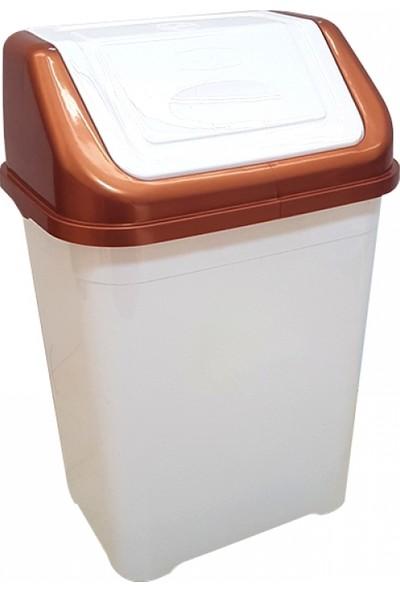 Pazaristanbul Piev Beyaz Bakır Çöp Kovası 5 lt