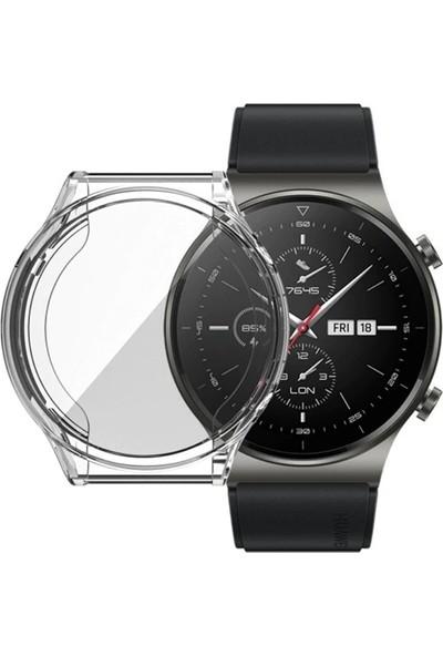 Ally Huawei Watch GT 2 Pro 360 Koruma Ultra Ince Silikon Kılıf AL-33087