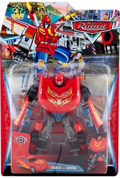 Erdem Oyuncak Racer Robot Kırmızı-Gri Sarı Desenli 338-28