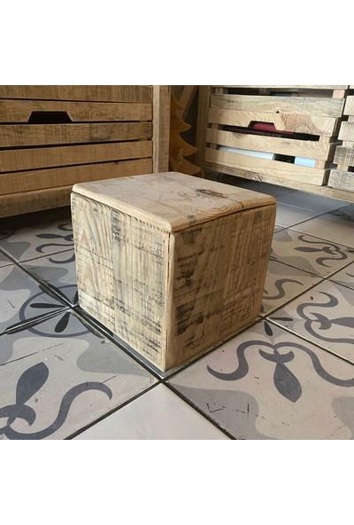 Hamira Masifhayat Cube Masif Ahşap Kutu