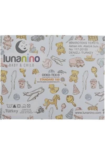 Lunanino Müslin Bebek Ağız Bezi 5 Adet Yıldız