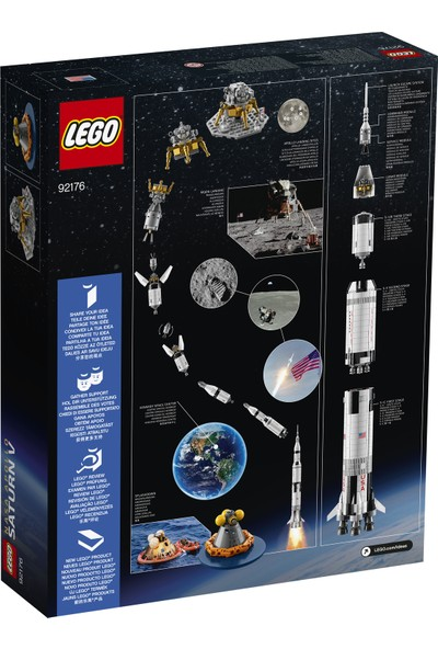 LEGO® NASA 92176 Apollo Saturn V İnşa Seti