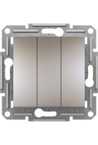 Schneider Electric Schneider Asfora Plus- 3'lü Anahtar, Çerçevesiz, Bronz EPH2100169