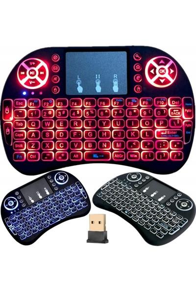 Piranha 2385 Kablosuz Renkli Işıklı Mini Touchpad Q Klavye
