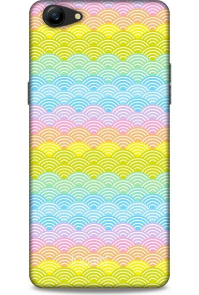 Lopard Oppo A79 Kılıf Pastel Renkler (1) Kılıfı Karışık Renkli