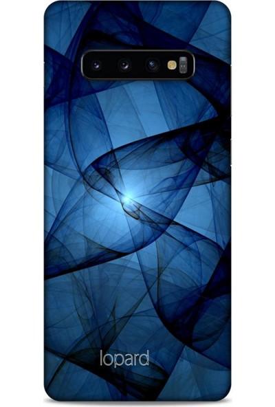 Lopard Samsung Galaxy S10 Plus Kılıf Pastel Renkler (13) Silikon Kap Lacivert